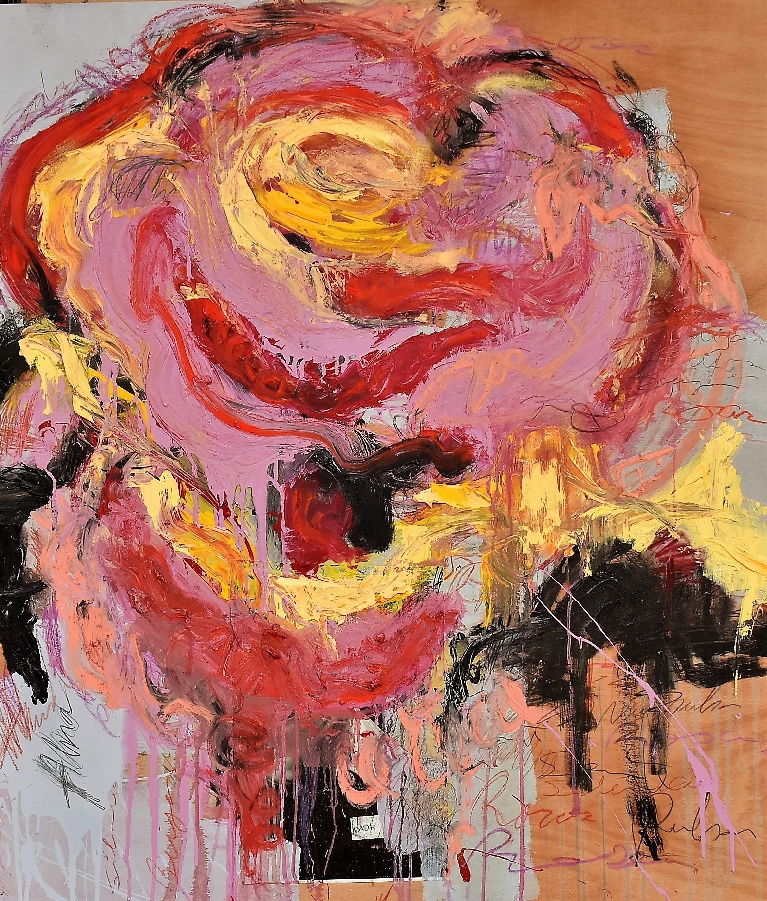 The Rose # I, Pintura Técnica Mista Abstrato original por ELISA  COSTA