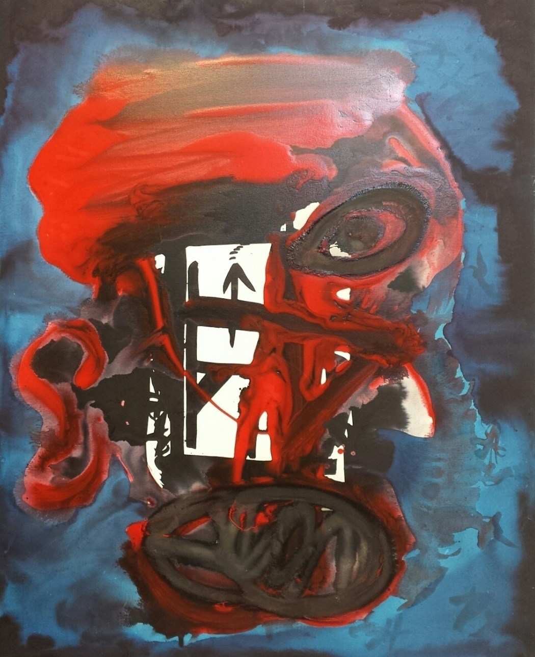 Morto ou vivo, original Abstract Canvas Painting by Francisco Capelo