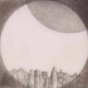 L'eclipci II, original Geometric Pencil Drawing and Illustration by ELENA KERVINEN