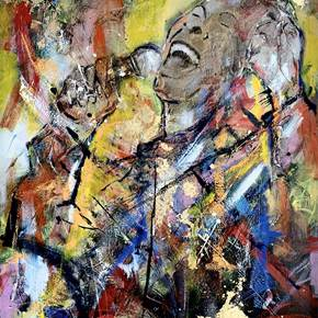 """ Betty Carter"", original Human Figure Acrylic Painting by Xicofran ."