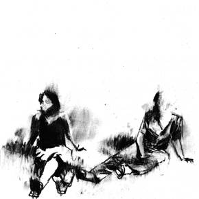 Sem título, original Small Charcoal Drawing and Illustration by Fábio Veras