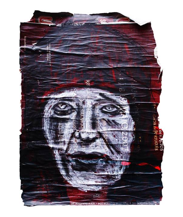 Sem título, original Avant-Garde Mixed Technique Painting by Alexandre Rola