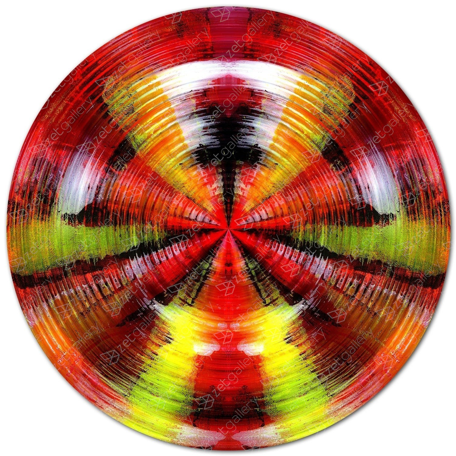 CIRCULAR COLORBURST, Ø 120 cm, original Abstract Digital Photography by Sven Pfrommer