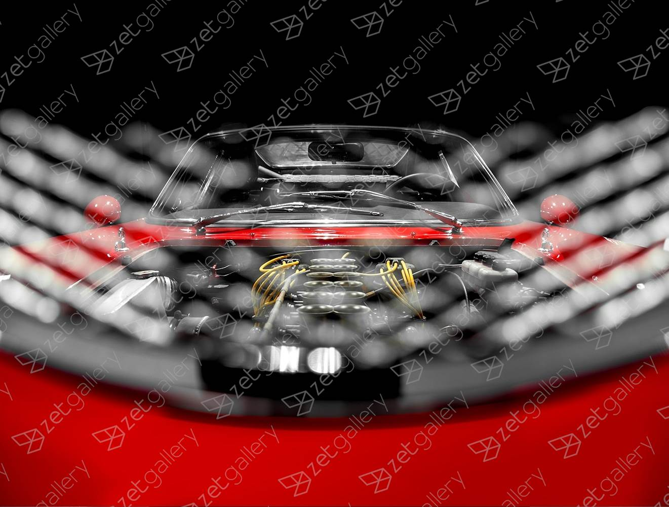Ferrari GTB Competizione 01, original Avant-Garde Digital Photography by Yggdrasil Art