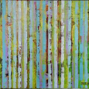 Beautiful garden, original Abstract Acrylic Painting by Francisco Santos