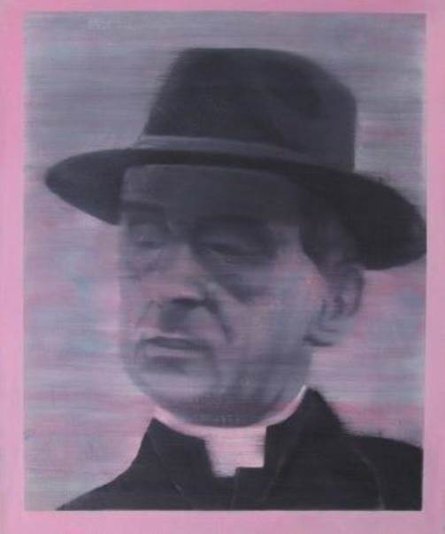 Paulo VI, original Human Figure Oil Painting by Ricardo Gonçalves