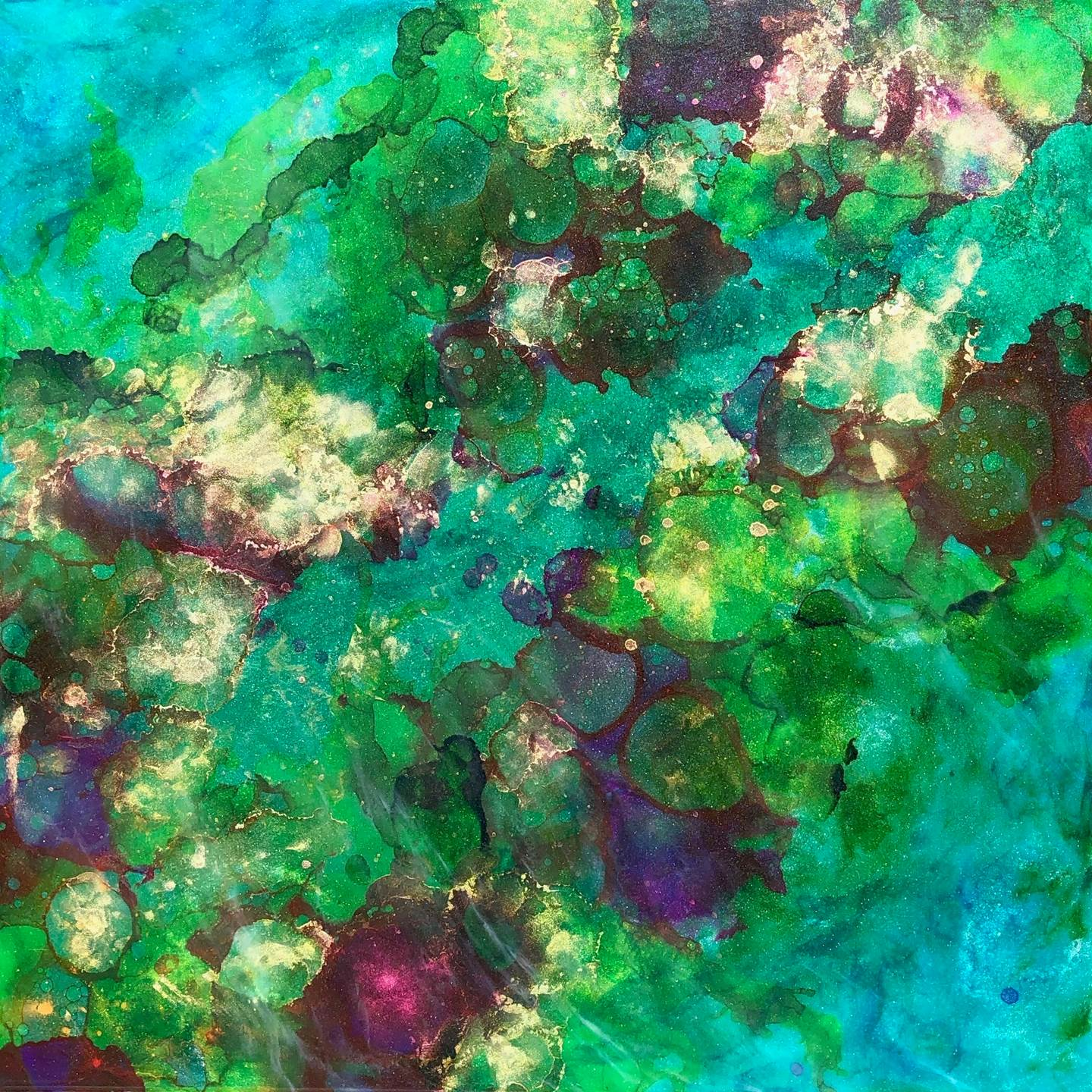 Tide Pools, original Nature Mixed Technique Painting by Tiffani Buteau