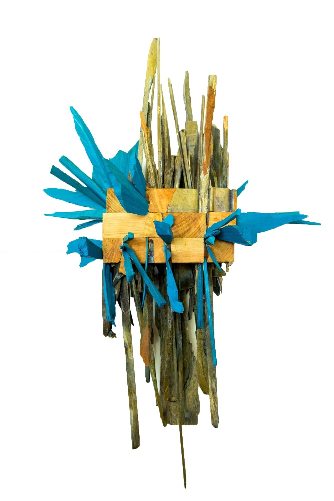 Rebentos que Brotam no Inverno II, original Abstract Wood Sculpture by Miguel  Neves Oliveira