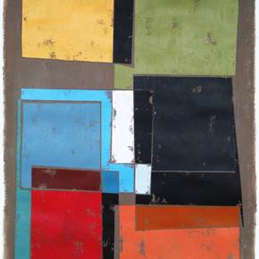 NG17, original Geometric Acrylic Painting by Luis Medina