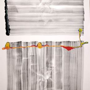 Moire #19, original Abstract Ink Drawing and Illustration by Rui Horta Pereira