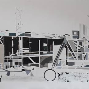Under Construction 4, original Places Mixed Technique Painting by Sofia  Leitão