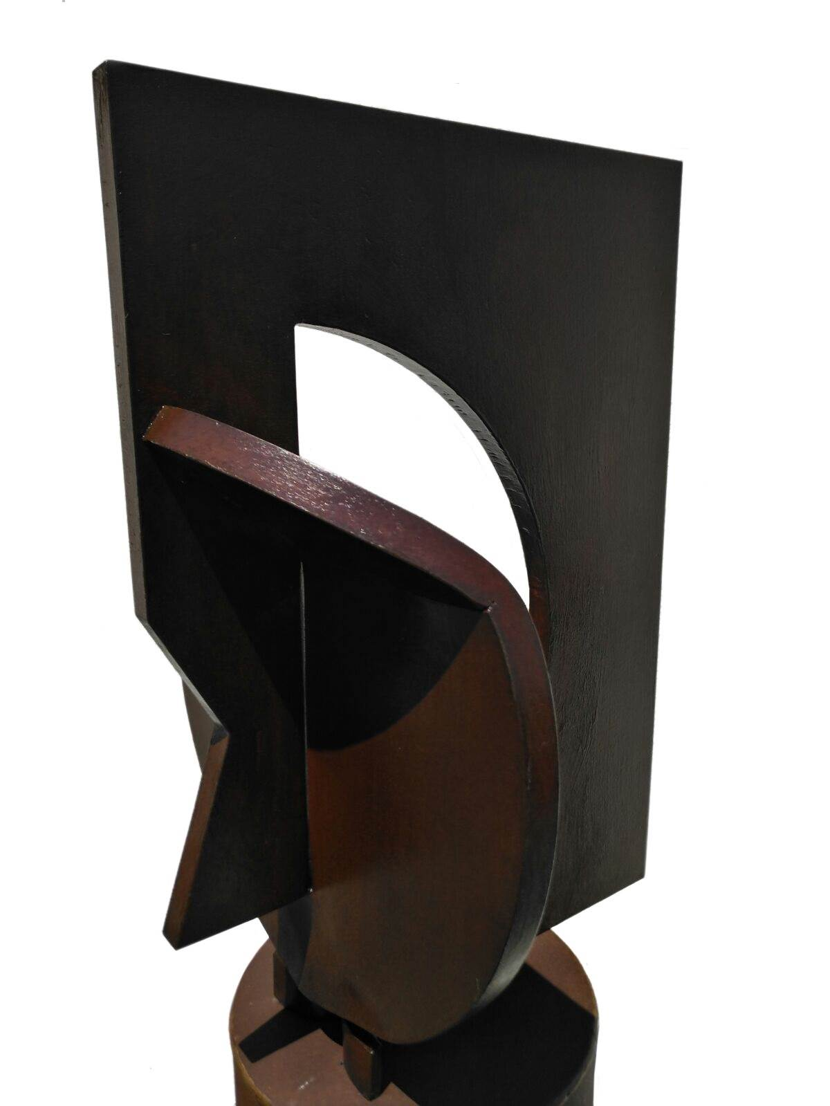 Cara al Aire, original Abstract Iron Sculpture by Juan Coruxo