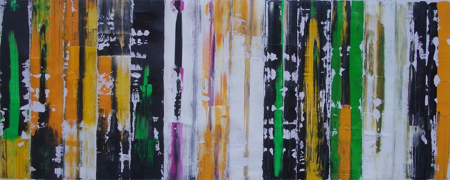 Abstract #20, original Abstract Acrylic Painting by Francisco Santos