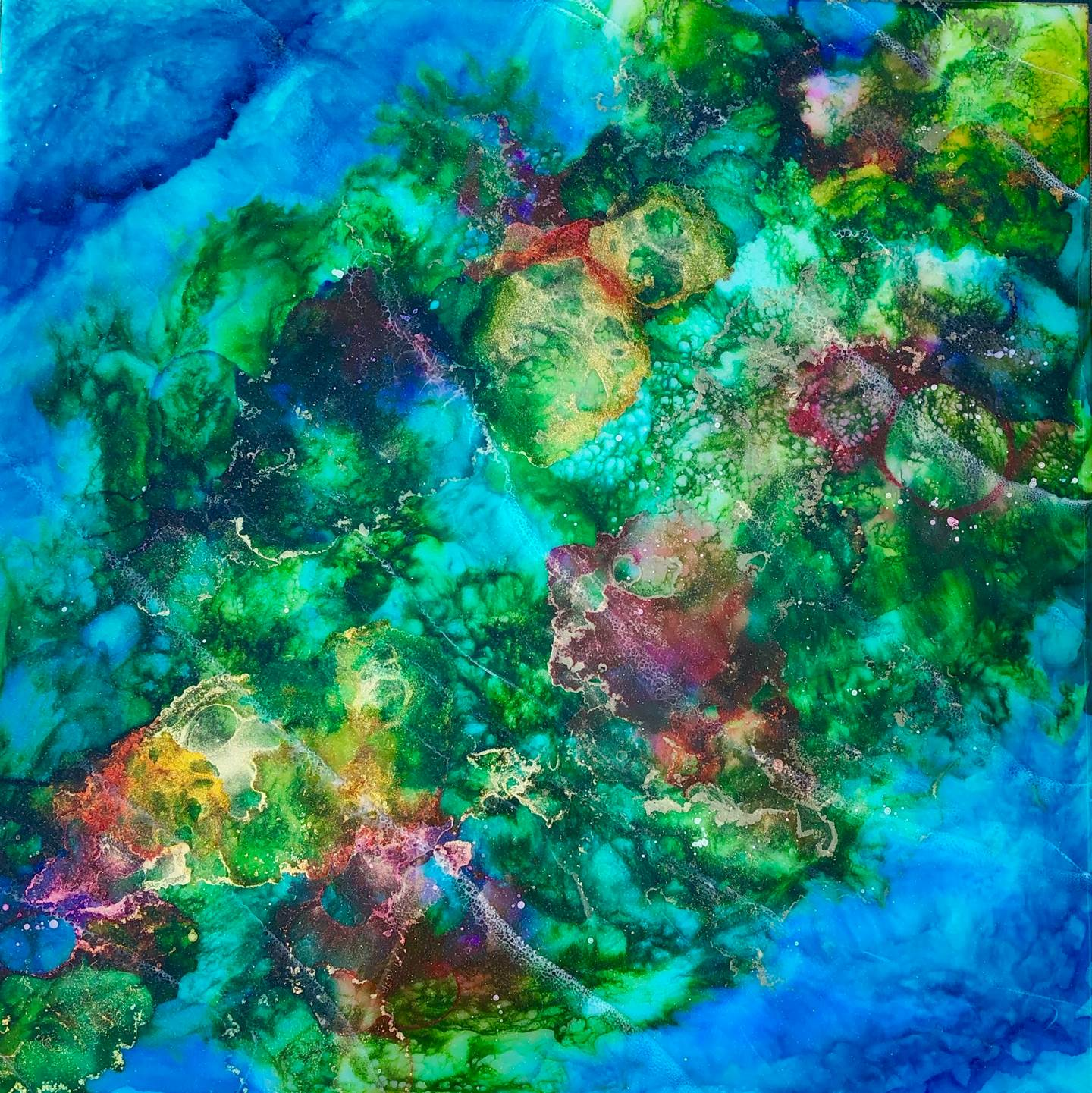 Tidal Drift, original Nature Mixed Technique Painting by Tiffani Buteau