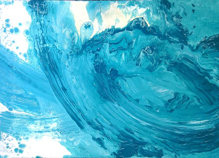 Oceano Índico I, original Abstract Acrylic Painting by Catarina Machado