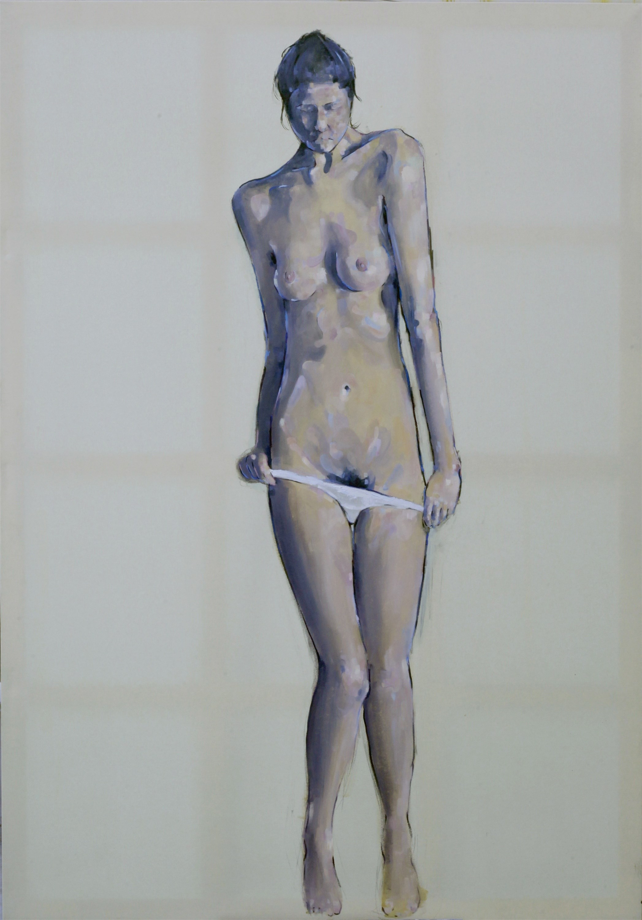 Calypso, original Nude Canvas Painting by Giorgos Kapsalakis