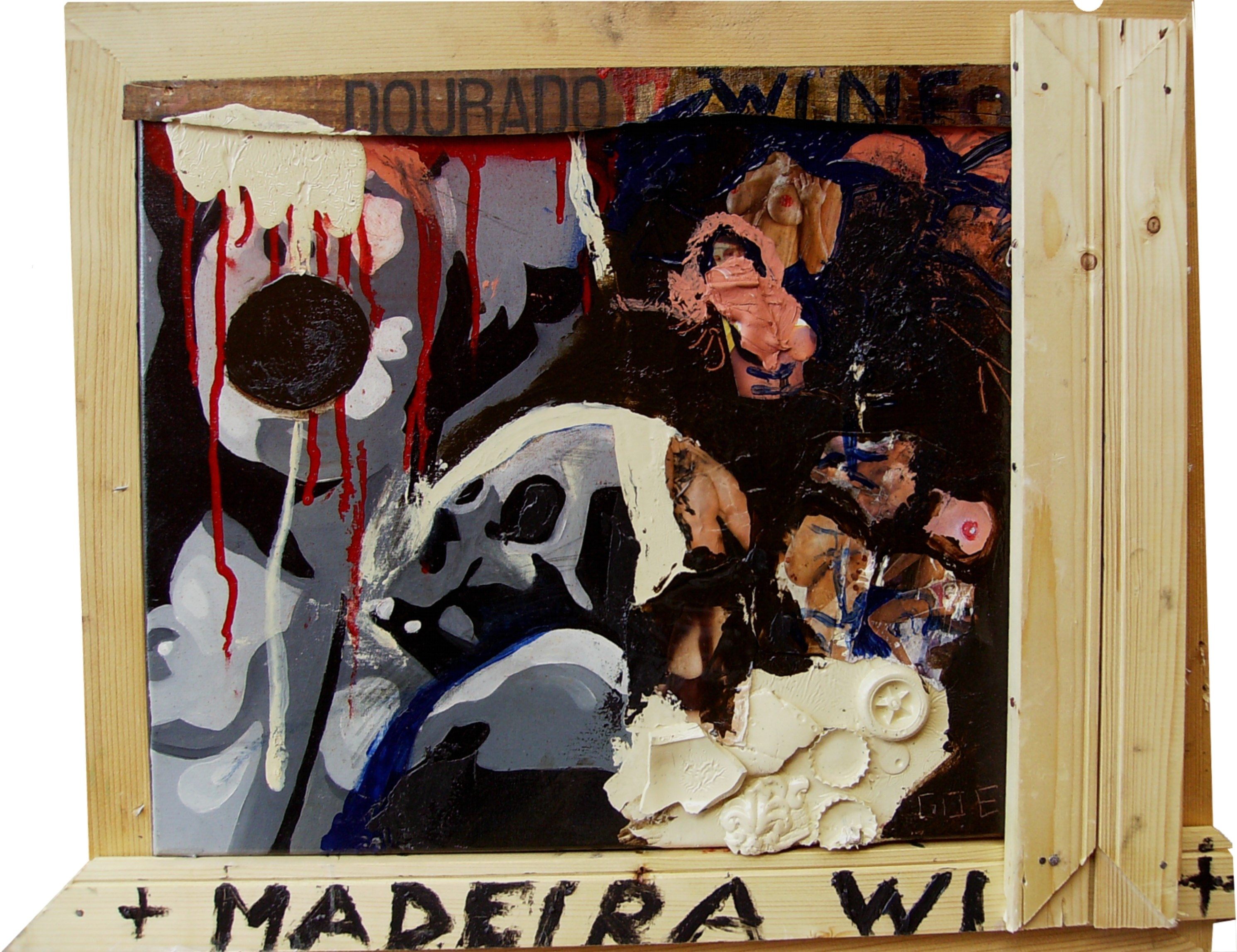 Madeira Wine, original Abstract Canvas Painting by Diogo  Goes