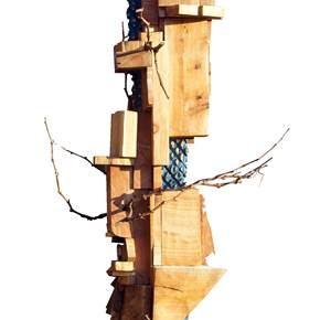 Edifício terra I, original Nature Wood Sculpture by Miguel  Neves Oliveira