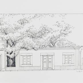 Rua do Município, nº17, original Architecture Pen Drawing and Illustration by Luís Freitas