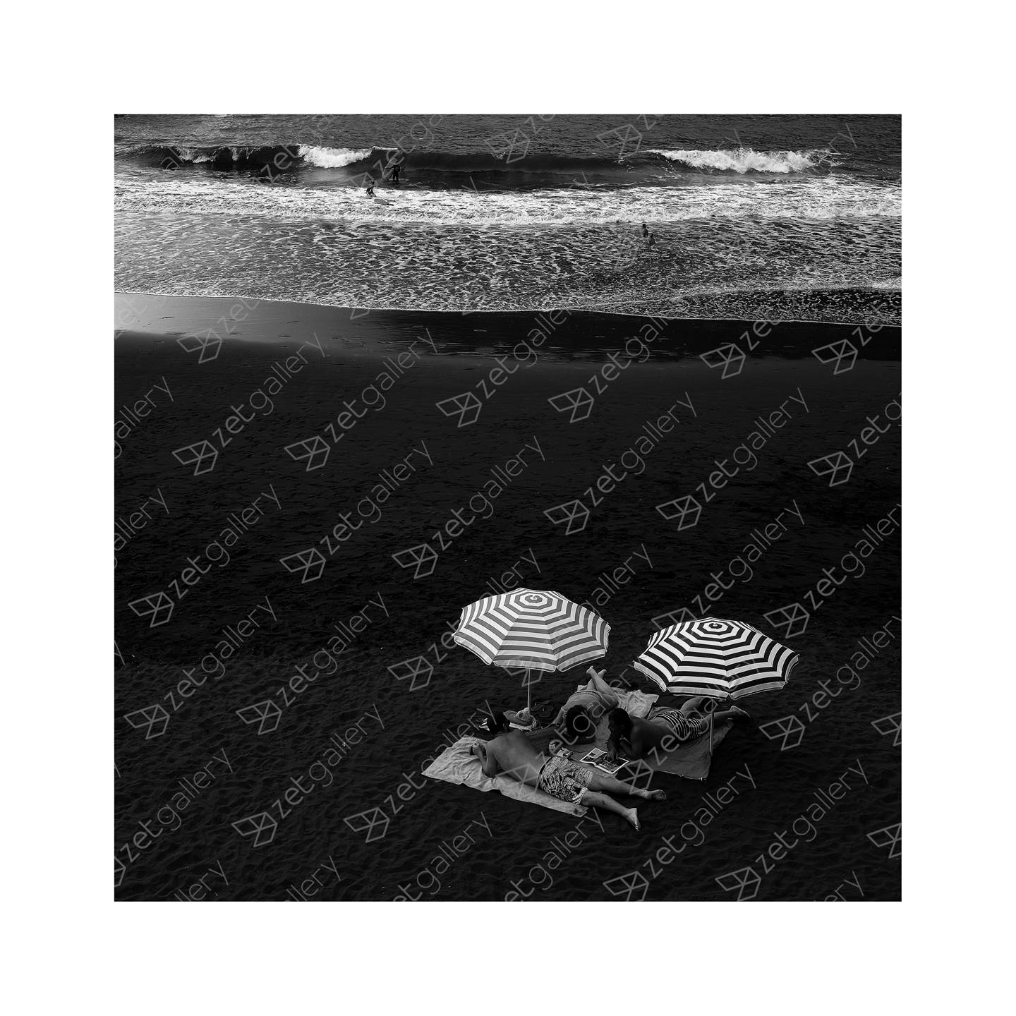 Sunbathers, original B&W Digital Photography by Filipe Bianchi