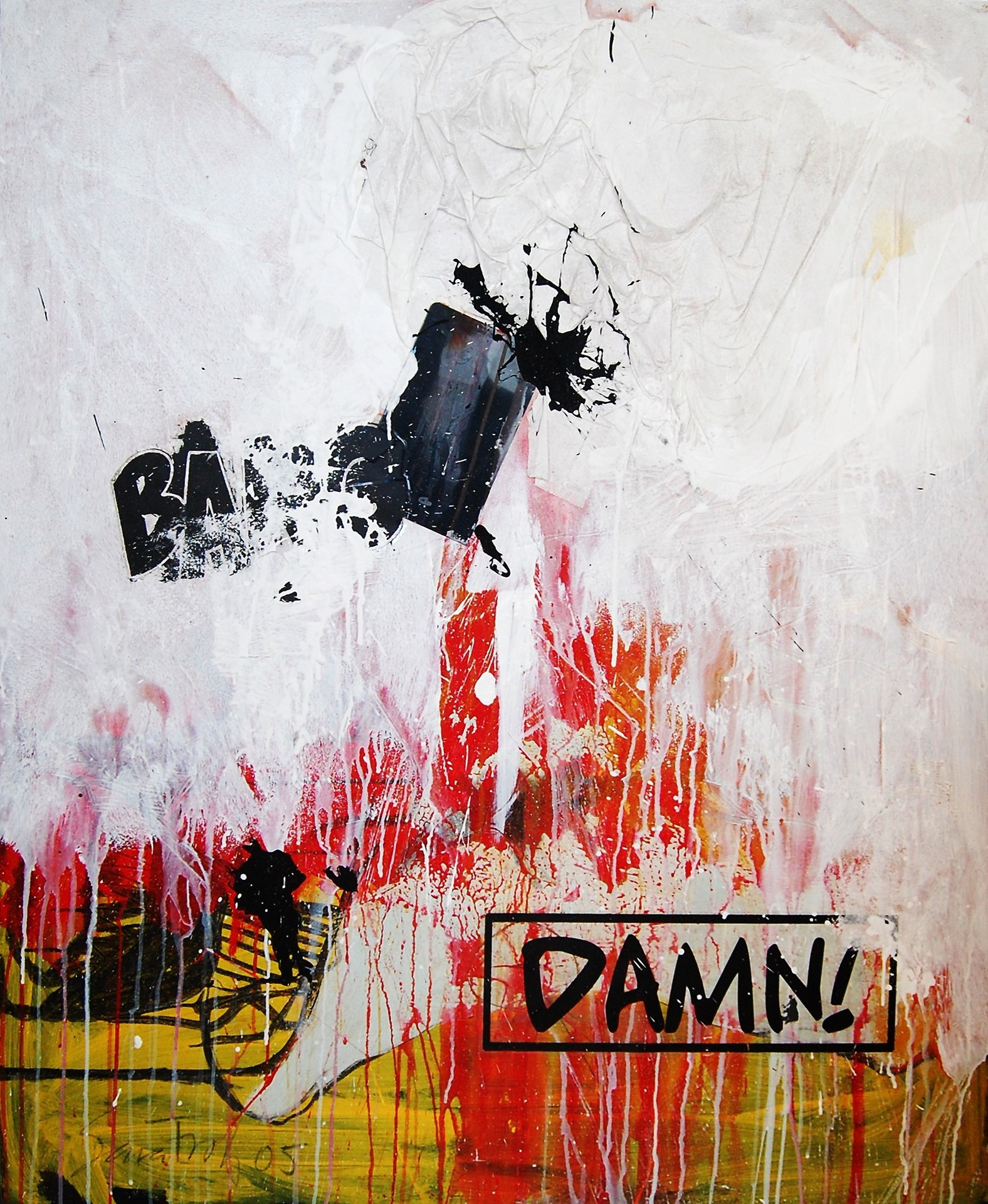 The Damn Theory, original Abstract Canvas Painting by Sara Franco