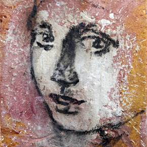 Sem título, original Portrait Canvas Painting by Alexandre Rola