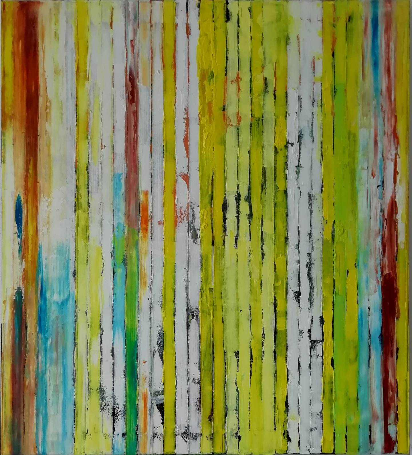 Spring, original Abstract Oil Painting by Francisco Santos