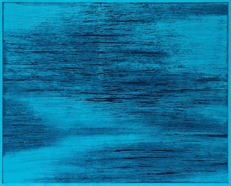 Underneath_the_blue_surface, Pintura Acrílico Abstrato original por Peter Foesters