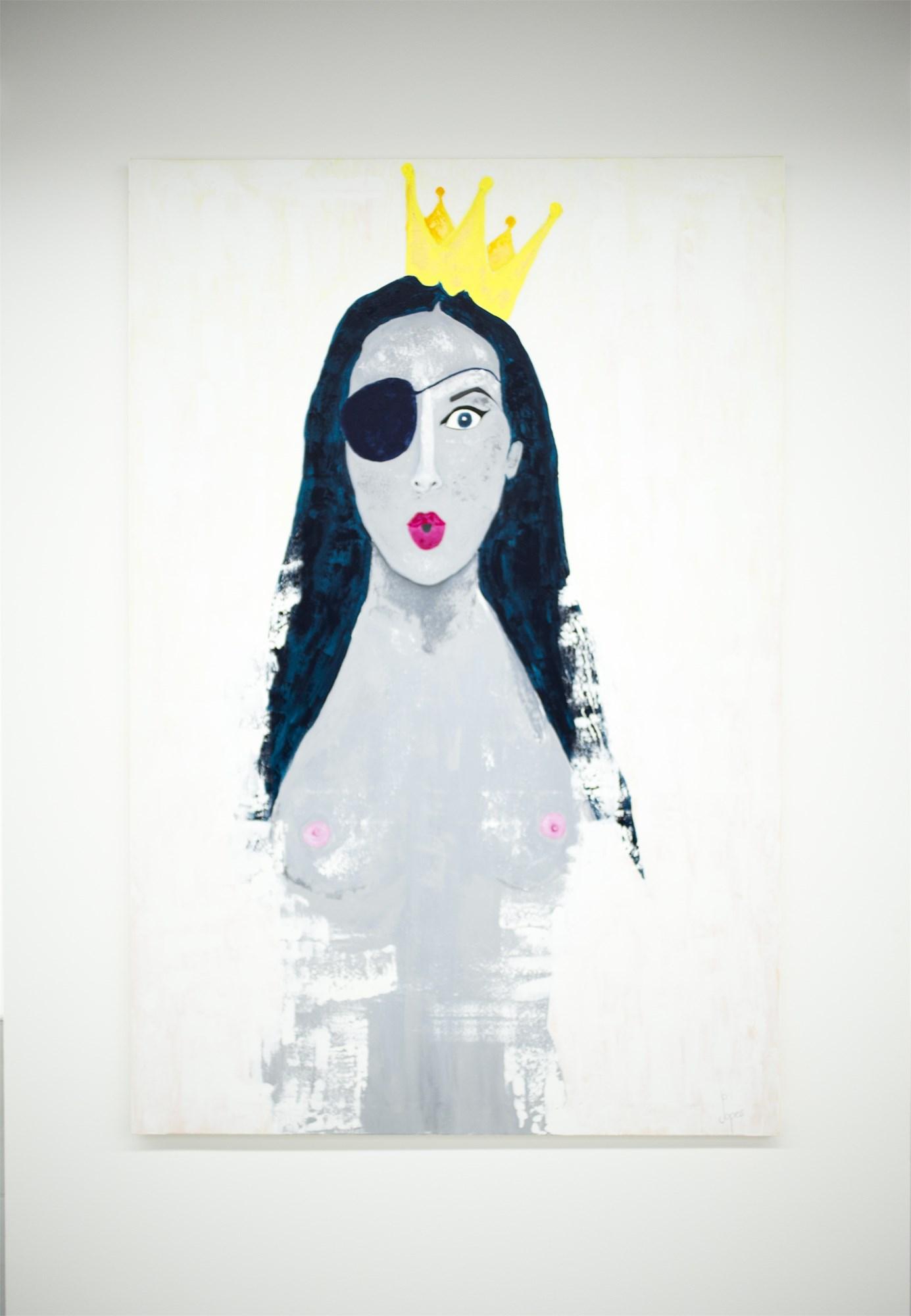 pirata de coroa princesa de pala por joana lopes obra de arte