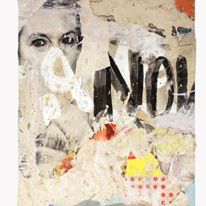 Not Now, original Avant-Garde Mixed Technique Painting by Alexandre Rola