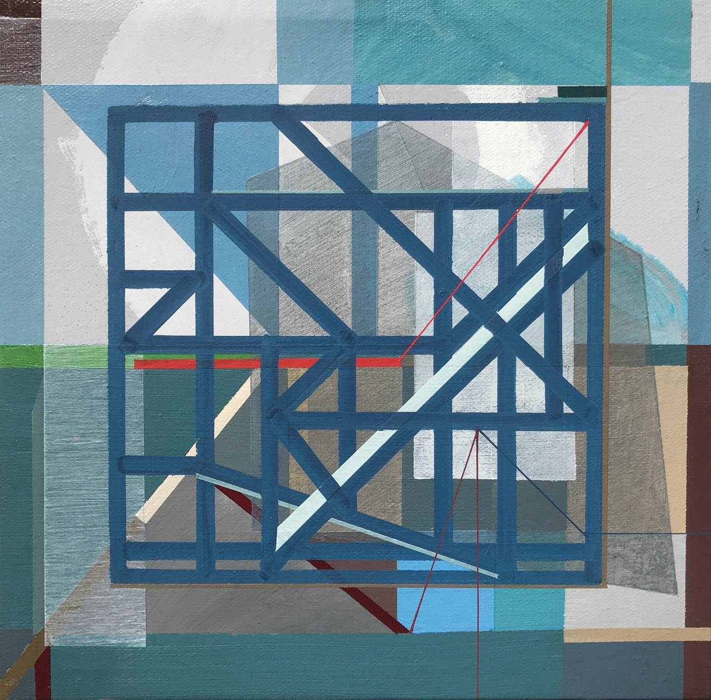 """Non-Structural VI"" , original Geometric Acrylic Painting by Pedro Besugo"