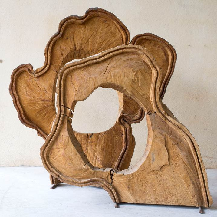Flores, original Nature Wood Sculpture by Paulo Neves