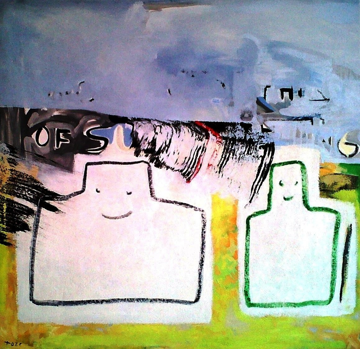 Untitled (Who Would Think of Such a Thing), Pintura Tela Abstracto original por Toze Figueiredo