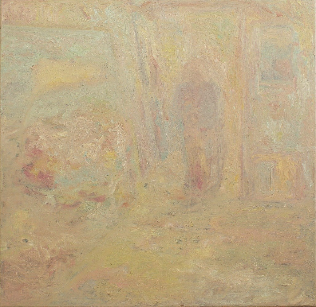 Corredor, original Abstract Oil Painting by Rúben Lança