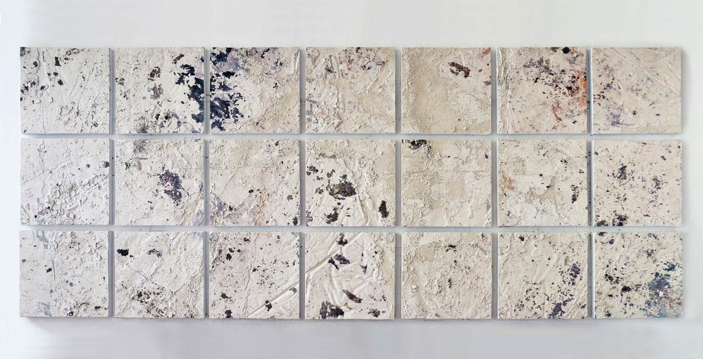 "''...Sometimes, the debris of that which once existed is condensed into new words and relationships."" Anselm Kiefer, original Abstract Mixed Technique Painting by Predrag Todorović"