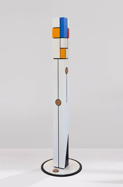 Starting from zero - Ego, original Abstract Aluminum Sculpture by Acácio  Viegas
