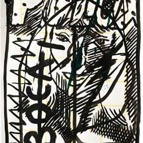 Tempestade 70, original Avant-Garde Ink Painting by Francisco Vidal