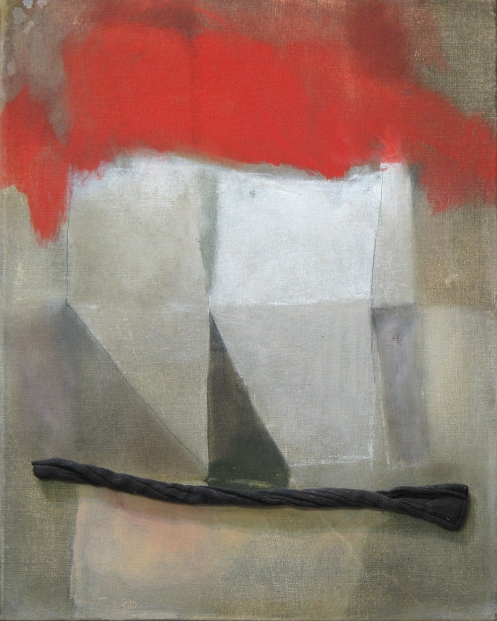 Origami structures, original Abstract Canvas Painting by Álvaro Marzán