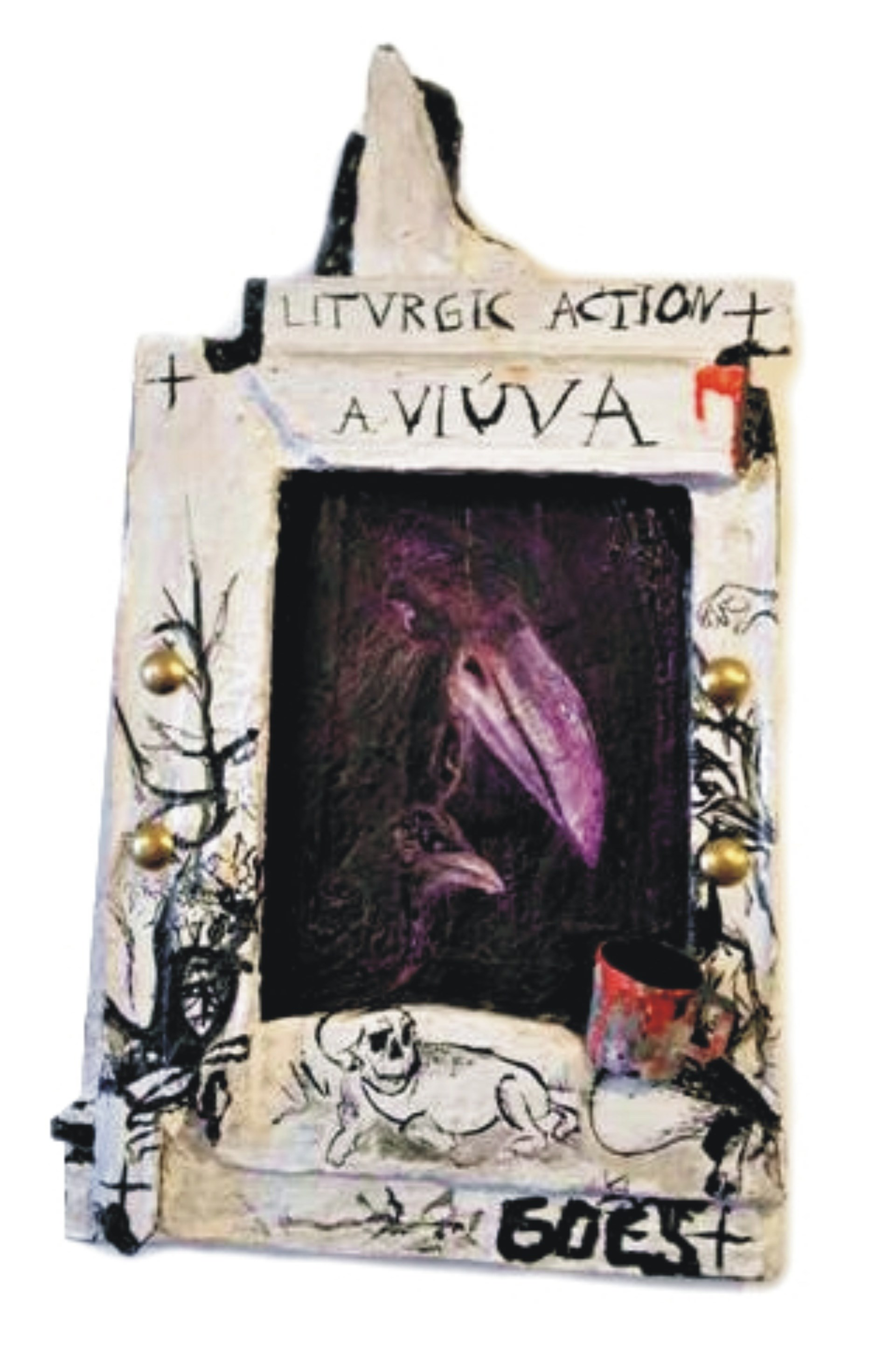 A Viúva: Liturgic Action, original Animals Acrylic Painting by Diogo  Goes