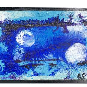 Sinfonia azul, original Abstract Acrylic Painting by Aníbal Estrada