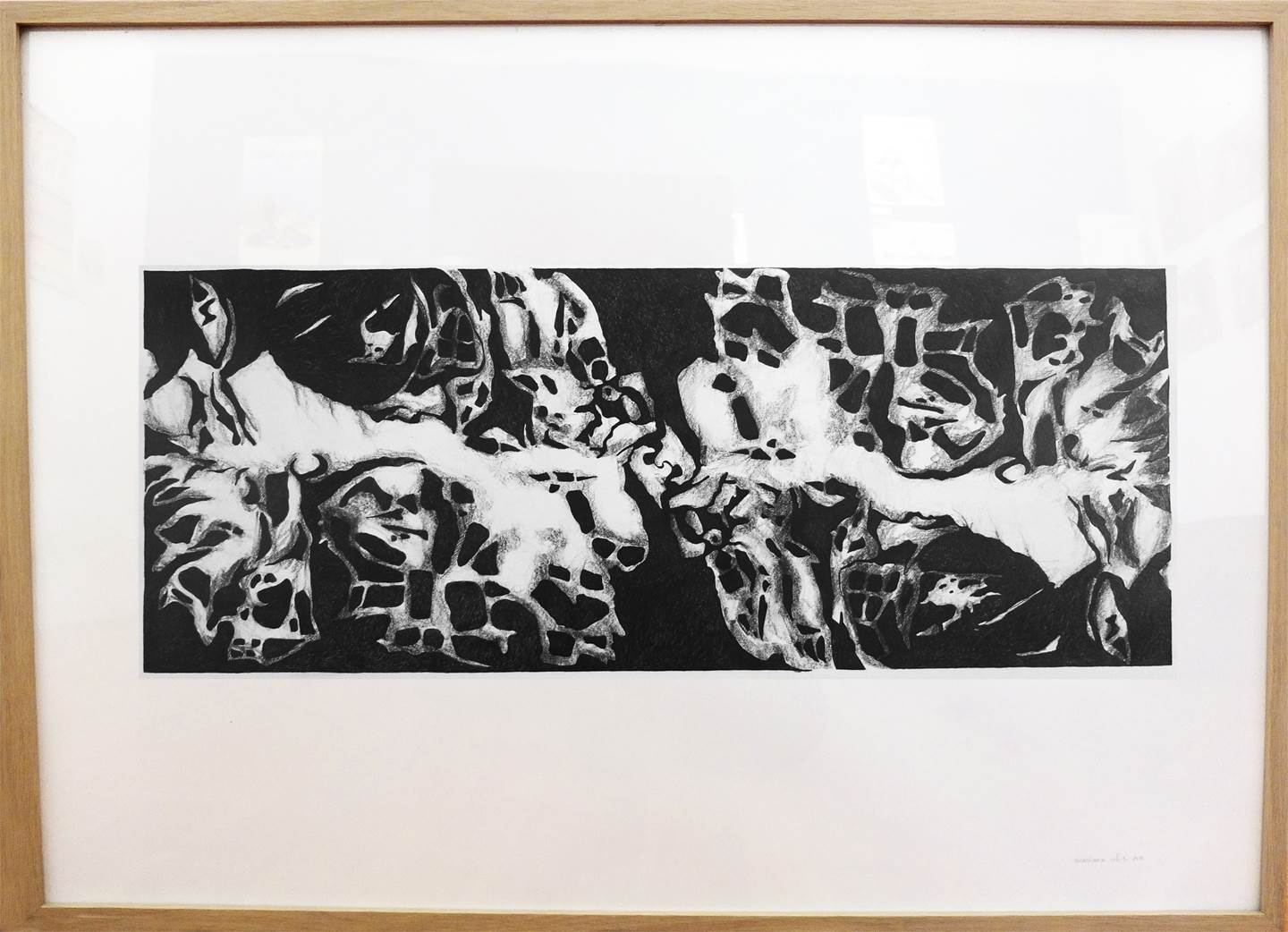 Rocha#2, original Abstract Charcoal Drawing and Illustration by Mariana Alves