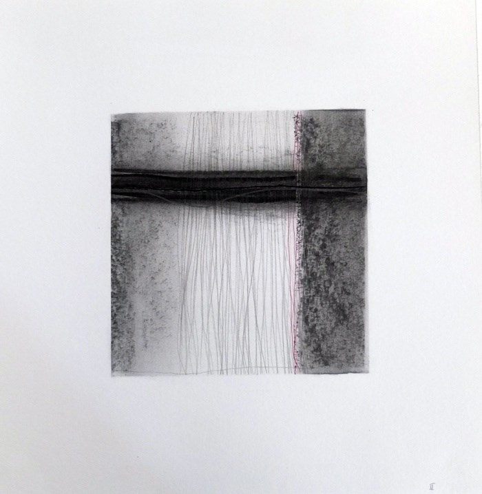 Drawn Inward II, original Abstract Charcoal Drawing and Illustration by Mariana Alves