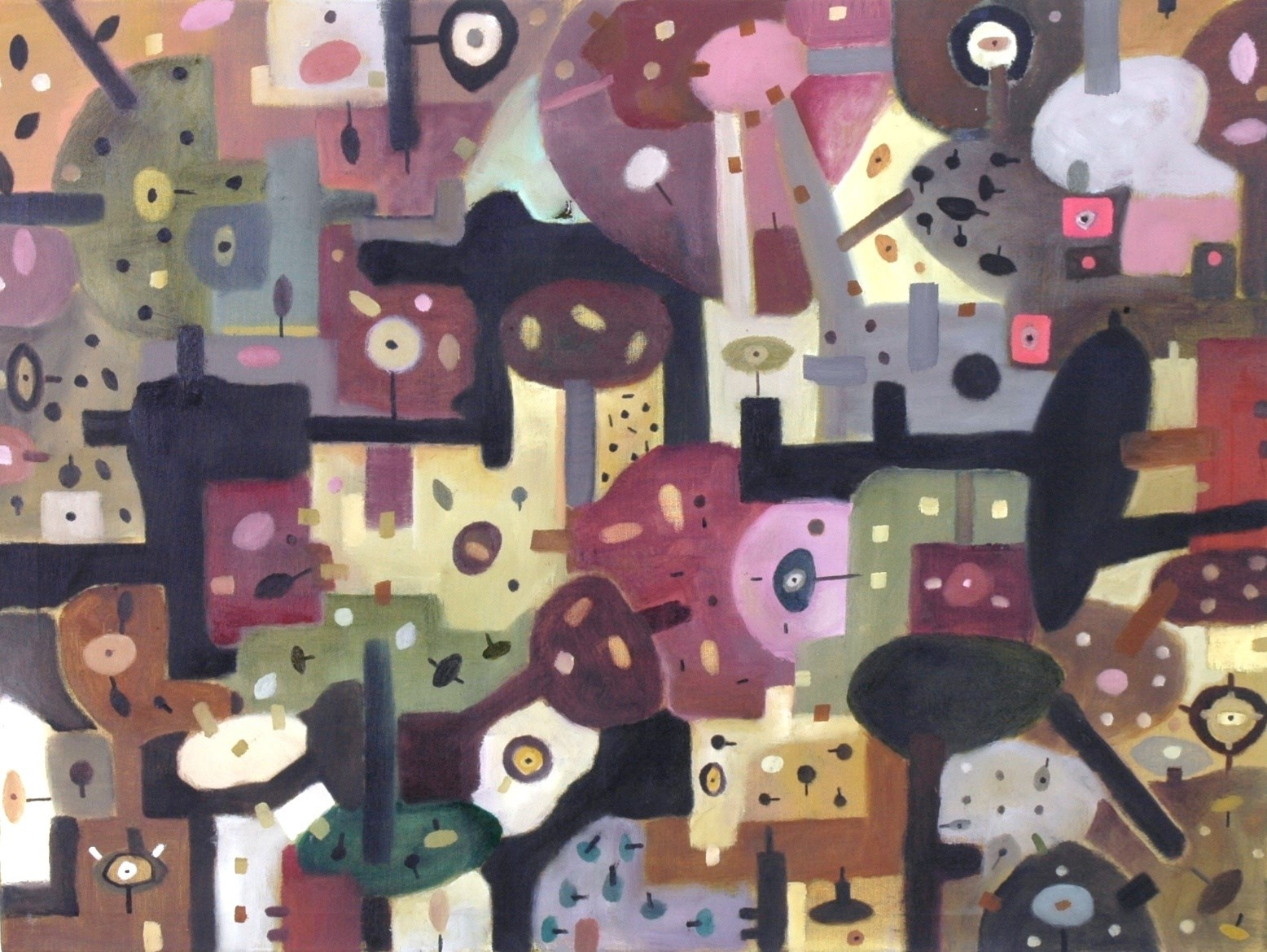 Sem título, original Abstract Canvas Painting by Isabel Amaral