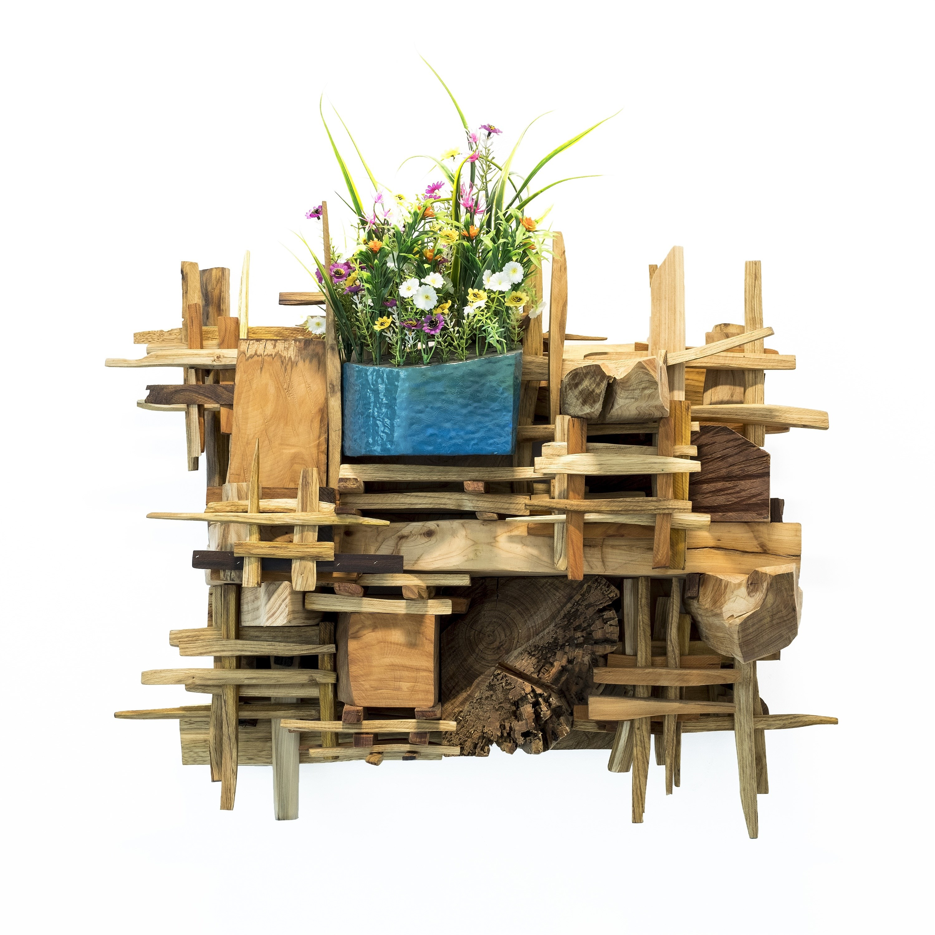 Florir no Imenso Solo I, original Nature Wood Sculpture by Miguel  Neves Oliveira
