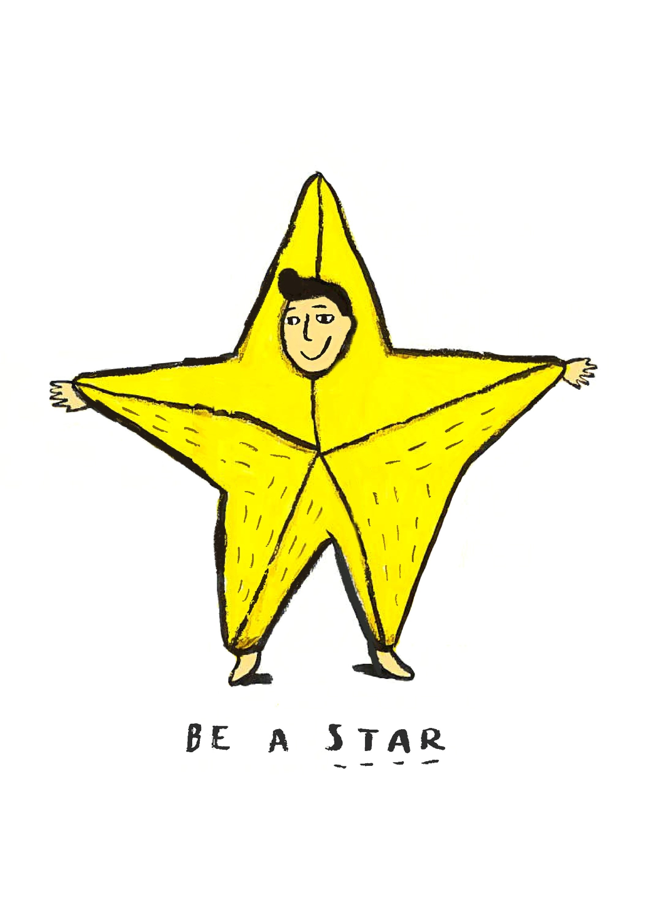 Be a Star, original Body Digital Drawing and Illustration by Shut Up  Claudia