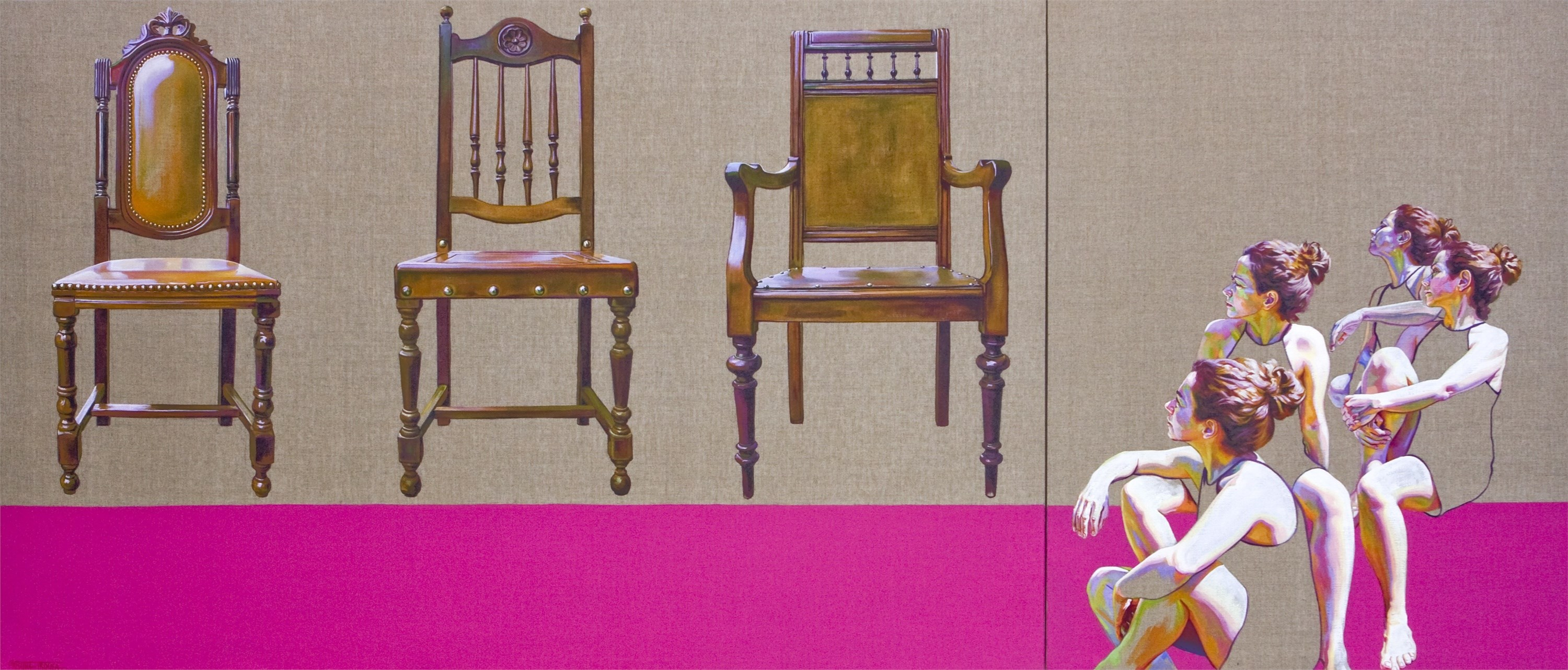 The chair, Pintura Acrílico Grande formato original por Cristina  Troufa