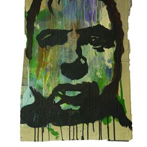 Francis Bacon, original Portrait Mixed Technique Painting by Alexandre Rola