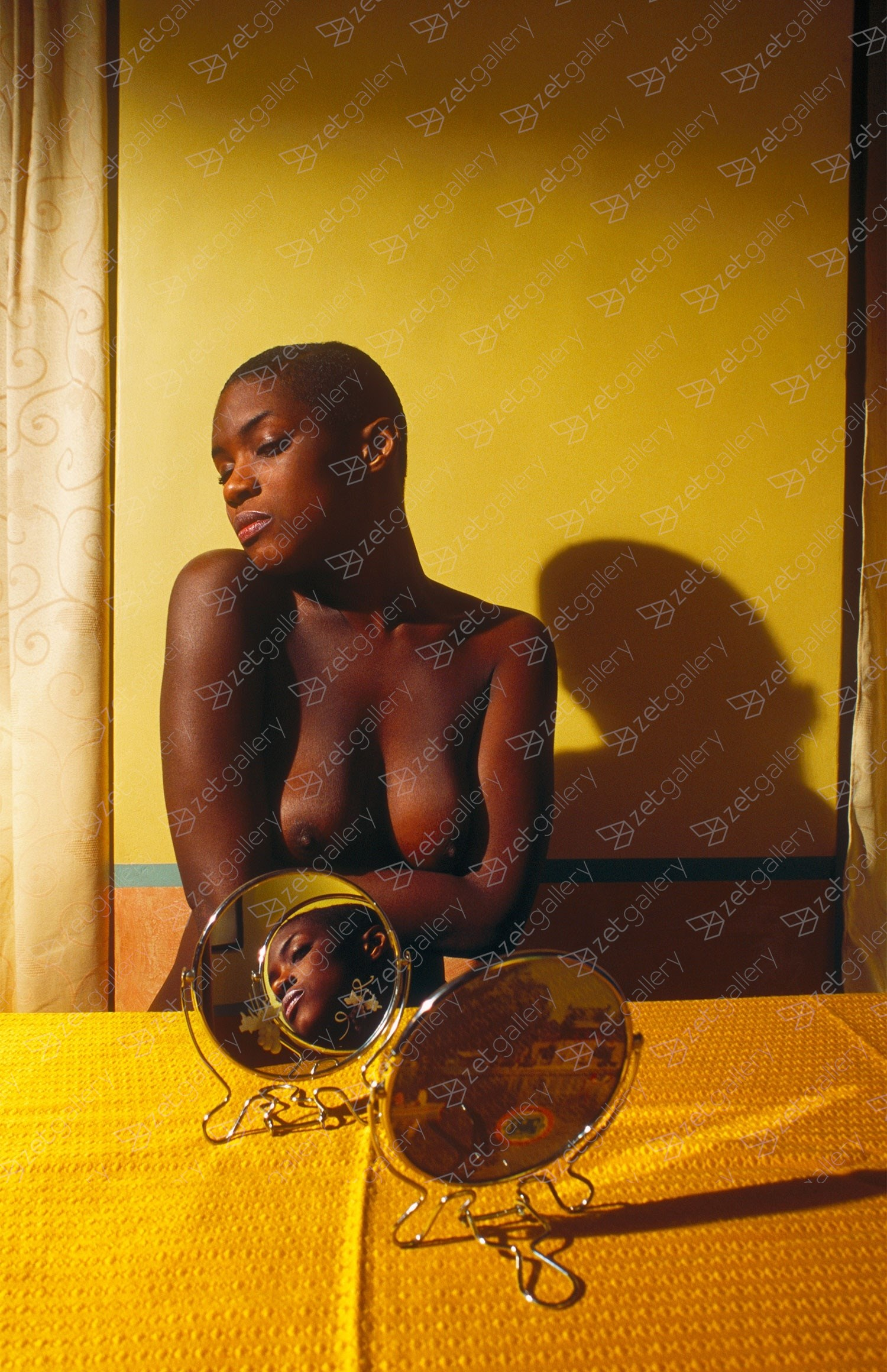 Yolanda Mirror, original Avant-Garde Analog Photography by Alva Bernadine