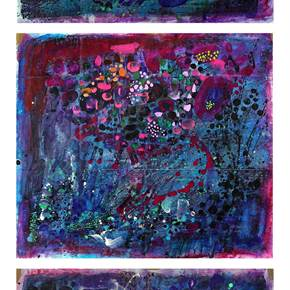 Composition. Triptych, original Abstract Acrylic Painting by Adrian Astorga