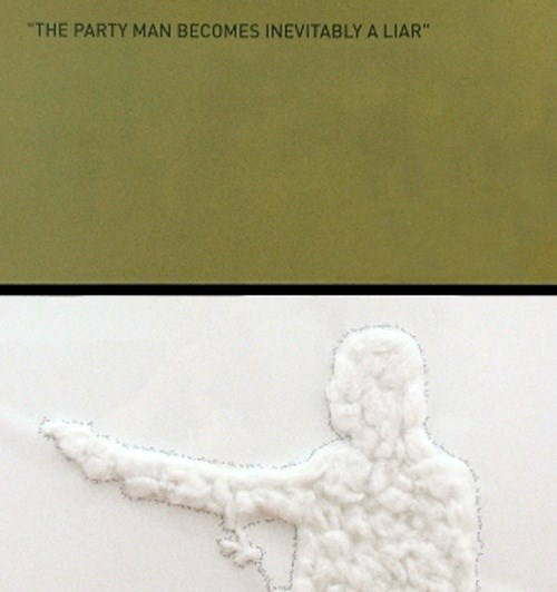 The Party Man Becomes Inevitably a Liar, Pintura Papel 0 original por Alexandre Baptista